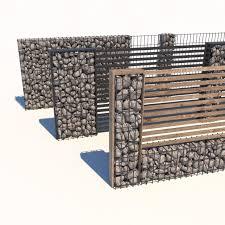 3d Model Gabion Fence Cgtrader