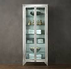 stainless steel and glass cabinet