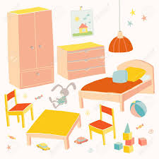 Set Of Furniture For Children Room Kids Small Furniture Bed Stock Photo Picture And Royalty Free Image Image 80371144
