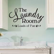 Cute Laundry Room Wall Decal Quote Sticker Adhesive Loads Of Fun Wording Vinyl Wall Art Sticker Room De Laundry Room Wall Art Laundry Room Laundry Wall Art