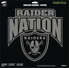 Oakland Raiders Nation Shield Arch Vinyl Decal Nfl Football Window Sticker Diamonddecals In 2020 Football Vinyl Decal Football Decal Raider Nation
