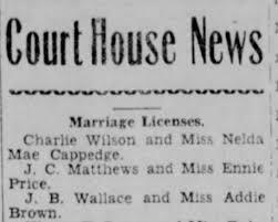 25 December 1936 JB Wallace & Addie Brown - Newspapers.com
