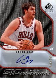 2009-10 SP Signature Edition SIGnificance #SAG Aaron Gray /499 Auto | eBay