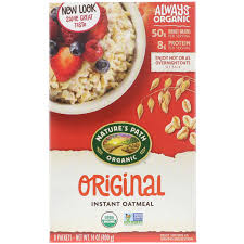 nature s path organic instant oatmeal