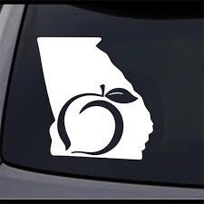 3 Pack Georgia State Map Ga Permanent Vinyl Decal Laptop Window Car Sticker Ebay