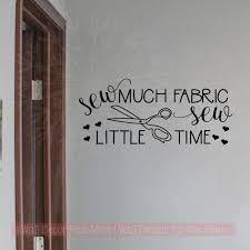 Seamstress Art Decals Sewing Room Wall Stickers Sew Little Time Vinyl Letters 23x10 Inch Black Walmart Com Walmart Com