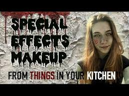 diy sfx makeup from things in your