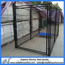 China 6 X 5 X 10 Black Modular Welded Wire Kennel Gates Panel China Dog Kennel And Metal Dog Kennel Price
