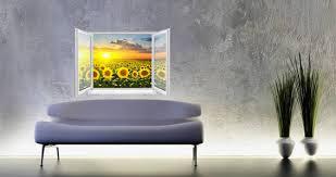 Sunflower Sunset Fields Faux Window Dezign With A Z