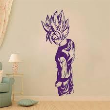 Removable Goku Super Saiyan Dragon Ball Wall Sticker Home Decor Room Interior Art Wall Mural Buy At A Low Prices On Joom E Commerce Platform