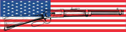 8inx2in American Flag Gun Bumper Sticker Patriotic Vinyl Car Window Decal Stickertalk