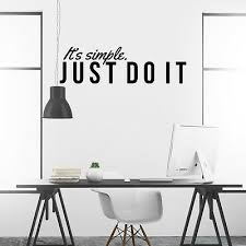 Just Do It Inspirational Wall Decal Motivational Wall Art Home Room Office Decor Ebay