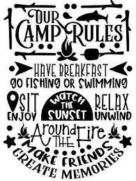 Our Camp Rules Bumper Window Vinyl Sticker Summer Decal Rules Season Camping Summer Vinyl Camp Life Pump In 2020 Window Vinyl Vinyl Sticker Bumper Stickers