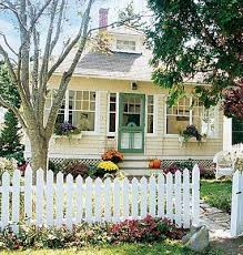 Day I Will Train Sawyer That A Squirrel Is No Reason To Jump A White Picket Fence Cottage Style Cute Cottage Yellow Houses