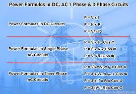power formulas in dc and ac 1 phase 3