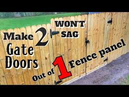 How To Make 2 Gates Out Of 1 Fence Panel Won T Sag Diy Woodworking With Minimal Tools Youtube
