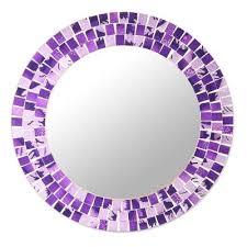 purple small round glass mosaic wall