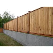 6 Ft X 8 Ft Premium Cedar Solid Top Fence Panel With Stained Spf Frame Actual Size 68 3 8 In H X 96 In W 6 Fence Panels Wood Fence Design Fence Design