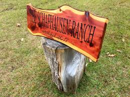 Custom Carved Live Edge Cedar Signs By Montgomery Woodwrights Custommade Com
