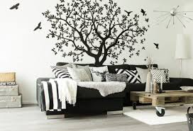 Large Tree Wall Decal White Tree Wall Decal Wall Mural Etsy Bird Wall Art White Bird Tattoos Nature Wall