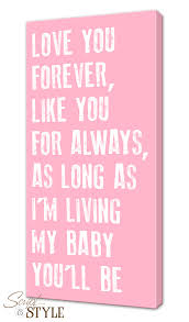 Canvas Wall Art With A Quote My Baby You Ll Be
