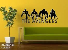 Avengers Wall Decal Kids Room Sticker Superheroes Mural Home Decor Boys Room Art Ebay