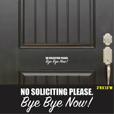 No Soliciting Home Business Door Vinyl Decal Sticker Greeting Car Sticker Window Ebay