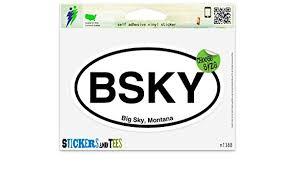 Bs Big Sky Montana Oval Car Window Bumper Sticker Decal 5 X 3