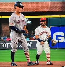Aaron Judge sharing a laugh with Jose ...