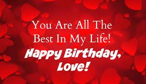 birthday wishes for lover birthday