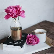 pink peony flower books coffee ipad pro