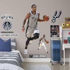 San Antonio Spurs Demar Derozan Fathead 11 Pack Life Size Removable Wall Decal