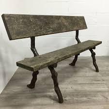 victorian cast iron twig garden bench