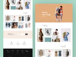 Fashion Web Template Design by Abdullah Fahad on Dribbble