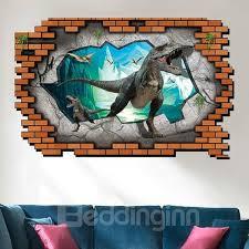 Unique Design Jurassic Period Dinosaur Pattern 3d Wall Stickers Beddinginn Com