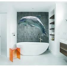 Shop Dolphin Decal Dolphin Sticker Dolphin Polygonal Wall Decal Polygon Modern Wall Art Overstock 31977289