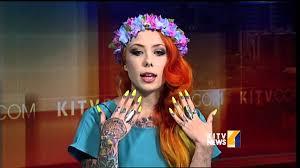 Tattoo artist and TV star Megan Massacre visits KITV - YouTube