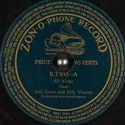 All Alone : Ada Jones and Billy Murray : Free Download, Borrow, and  Streaming : Internet Archive