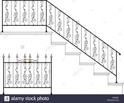 Old Victorian Staircase Cast Iron Stock Vector Images Alamy