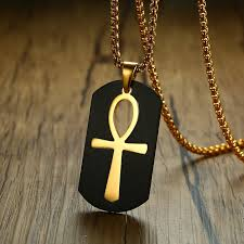 egyptian ankh necklace with 24 box