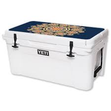 Mightyskins Protective Vinyl Skin Decal For Yeti Tundra 65 Qt Cooler Lid Wrap Cover Sticker Skins Summer Mandala Walmart Com Walmart Com