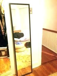 black metal full length wall mirror