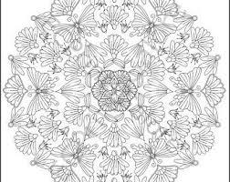 Bloem Mandala Kleurplaat Voor Volwassenen Instant Download Etsy
