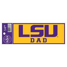 Lsu Tigers Dad Sticker Decal 6 X 2 25 Bengals Bandits