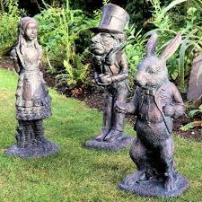 alice in wonderland garden sculptures