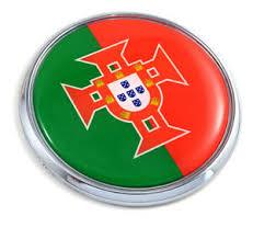 Portugal Portuguese Flag 2 75 Car Chrome Round Emblem Decal 3d Sticker Badge Ebay