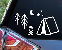 Camping Car Window Decals Car Decals Window Decals Car Stickers Adventure Decal Car Window Camping Stickers Tree Decals Star Decals