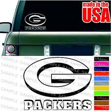 Green Bay Packers Nfl Decal American Football Wisconsin Cool Car Window Sticker Ebay