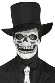 skeleton face prosthetic purecostumes