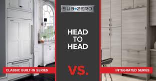 sub zero refrigerator classic built